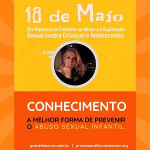Proteja seu filho na internet e Gracielle Torres apoiam a campanha Maio Laranja